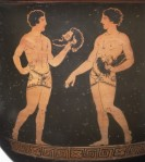 Detail from South Italian krater attributed to the Tarporley Painter. Nicholson Museum NM 47.1.
